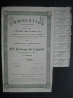 Action De Capital De 1929 VERVIERS - L'EMULATION - Non Classés