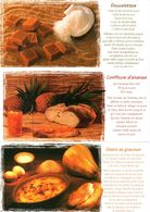 Recette De Cuisine :Lot De 3 Cartes : La Cuisine Des Antilles: Edition Exbrayat - Küchenrezepte