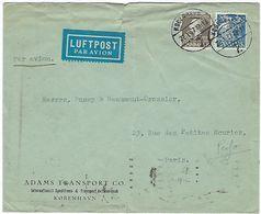 Timbre Perforé Du Danemark En 1937 Pour Paris Par Avion - 1913-47 (Christian X)