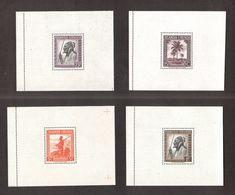 "Ruanda Urundi 1943 Série "" Messages "" - 4v Yvert# Bloc1/4 - 4 Blocs , Neufs Sans Charnieres ** - Ruanda-Urundi"