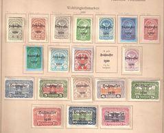 """ÖSTERREICH / Autriche / Austria 1921, Série Yvert 232 / 251 Sauf 243 , """" Hochwasser , Neuve * / MH, TB, Cote 11 Euros - Ungebraucht"""