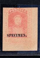 "* N°6 - 13c Rouge - Surch ""Specimen"" - CDF - Signé TB - Hawaii"
