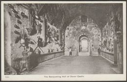 Banqueting Hall, Dover Castle, Kent, C.1905-10 - Gale & Polden Postcard - Dover