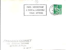 12 -  AVEYRON  -  LAGUIOLE  -   SECAP  -  1959 - Marcophilie (Lettres)