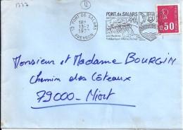 12 -  AVEYRON  -  12.PONT DE SALARS  -   SECAP  -  1972 - Marcophilie (Lettres)