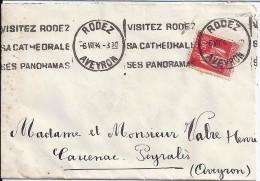12 -  AVEYRON  -  RODEZ  -   KRAG  -  1934  ROD104 - Annullamenti Meccaniche (Varie)