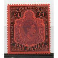 Bermuda £1 Purple And Black/Red King George VI From The 1938 Definitive Set. - Bermuda