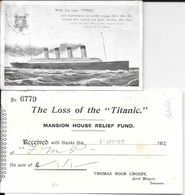 WHITE STAR LINER TITANIC CARTE POSTALE CIRCULEE MANCHESTER MAY 10 OF 1912 TO MRS. J. R. WAIN DERBYSHIRE WIRKSWORTH - Cartas