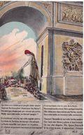 Paris Arc De Triomphe Marianne Dépose Une Gerbe Sur La Tombe Du Soldat Inconnu (allégorie) - France
