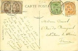 """CP De LE HAVRE """" La PROVENCE Entrant Au Port Par Gros Temps """" Cachets Ste ADRESSE POSTE BELGE-BELGISCHE POST 1916 - Postmark Collection"""