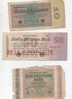 Lot De 7 Billets époque De La Grande Inflation ALLEMAGNE Années 30  (PPP8152) - Monnaies & Billets