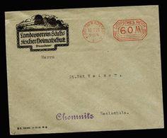 A5319) DR Infla Brief M. Postfreistempel Dresden 13.7.23 N. Chemnitz - Deutschland