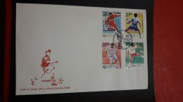 La Cuba Enveloppe FDC Mondial De Football Alemania 2006 - Coupe Du Monde