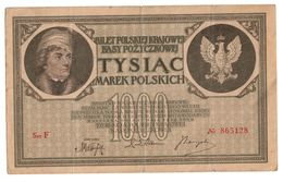 Poland 1000 Marek 17/05/1919 X Series - 6 Numbers - Polonia