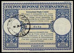 PAKISTAN London Type XVIn 6a 6p International Reply Coupon Reponse Antwortschein IRC IAS  O LAHORE 14.01.57 - Pakistan