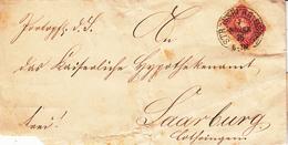 LAC Affr Michel 33 Obl STRASSBURG I ELS BHF Du 7 NOVBR 76 Adressée à Sarrebourg - Marcophilie (Lettres)