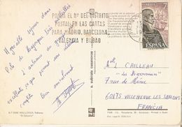 Spain & Marcofilia, Barcelona, Pollensa, Mallorca, El Calvario, Villeneuve-les-Sablons Francia 1976 (2948) - 1931-Aujourd'hui: II. République - ....Juan Carlos I