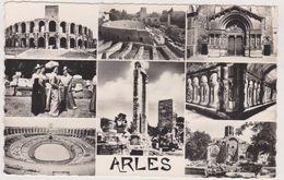 CARTE POSTALE ANCIENNE,arles En 1950,camargue,prés De Nimes,ARENES,EGLISE,STADE,13 - Arles