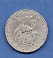Djibouti   --  100 Francs 1977 --  Km # 26  -  état TB - Djibouti