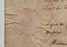 Archives Du Royaume.1752. Abitain.Lauhire. Sceau Sec. - Decreti & Leggi