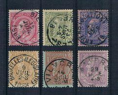 Belgien 1884 Mi.Nr. 42 - 47 Gestempelt - 1884-1891 Leopold II.