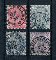 Belgien 1883 Mi.Nr. 35 - 38 Gestempelt - 1883 Léopold II