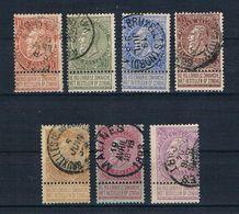 Belgien 1893 Mi.Nr. 53 - 59 Gestempelt - 1893-1900 Schmaler Bart
