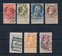 Belgien 1905 Mi.Nr. 71 - 77 Gestempelt - 1905 Breiter Bart