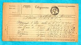 Telegramme 1922 Neuilly En Thelle Oise - Marcophilie (Lettres)
