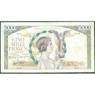 TWN -  FRANCE 97a - 5.000 Francs 21.9.1939 466 D.319 - Signatures: De Bletterie, Rousseau & Favre-Gilly - Pin Holes VG/F - 1871-1952 Antichi Franchi Circolanti Nel XX Secolo