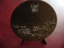 Medaille Débarquement Américain Et Allié En Normandie 6 Juin 1944 -  Bronze 1969 Medal Monnaie De Paris Graveur Coëffin - Etats-Unis