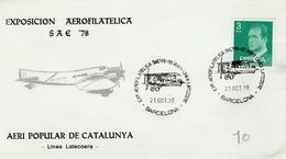Barcelona 1978 - Exposion Aerofilatelica - Biplan Airplane Avion Flugzueg - Linea Latecoere - 1931-Aujourd'hui: II. République - ....Juan Carlos I