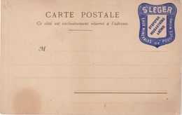 FRANCE : CP NEUVE. PORTE TIMBRE . ST LEGER POUGES NIEVRE . 1900 . - Postmark Collection (Covers)