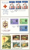 Pilipinas / Phillipines - 1972 - 3 FDC's - No Address - Red Cross, Pharmacy, Tuberculose - Filippijnen