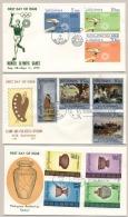 Pilipinas / Phillipines - 1972 - 3 FDC's - No Address - Olympic Games Munich, Paintings, Archeology - Filippijnen