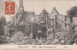 Cp , MILITARIA , Guerre 1914 , SENLIS , Effet Du Bombardement - Guerra 1914-18
