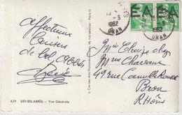 """ALGERIE : SURCHARGE EA . AU TAMPON . SUR CP . DE """" SIDI BEL ABBES """" . 1962 . - Algeria (1924-1962)"""