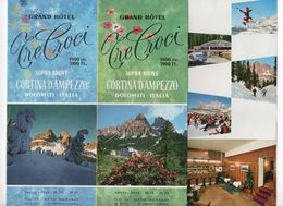 1966 ADVERTISING BROCHURE FOR GRAND HOTEL TRE CROCI - CORTINA D AMPEZZO DOLOMITI - Advertising