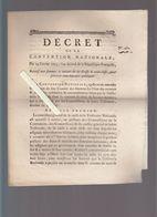 Histoire - Décret Convention Nationale 1793 - Trésorerie De La Caisse à 3 Clés, Assignats Nouvellement Fabriqués - Historical Documents