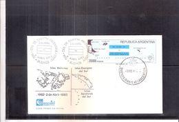 Geographie - Carte Des Iles Argentine - FDC Argentinefrique Du Sud - 1983 (à Voir) - Géographie