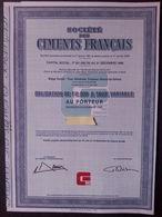 1 Sté Ciments Français 1981 Obligation 2.000 F - Autres