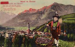 CPA Adressée à Käthe Wewalker En 1928 - Saluti Da Merano - Grübe Aus Meran ! Wer Mich Will Lebending Sehen, ... Vigne - Bolzano (Bozen)
