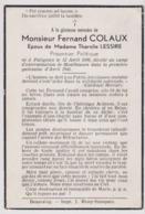 Souvenir Colaux (Patignies Gedinne) Résistant AS Exterminé Camp Concentration Monthausen - Postwaardestukken