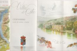 Advertising Brochure And Booklet For Villa D Este - Cernobbio, Lago Di Como, Italy - Advertising
