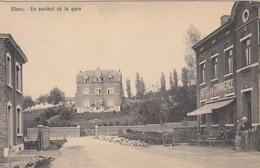Glons - En Sortant De La Gare (animée, Hôtel De La Gare, Buvette, Travaux, Librairie Olyff, Hasselt) - Bassenge