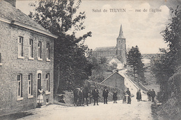 Salut De Teuven - Rue De L'Eglise (animation, Cheval, Edit. Th. Tesch-Mertens) - Voeren