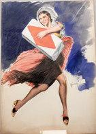 BOZZETTO ORIGINALE  Illustratore BIANCHI - Vecchi Documenti