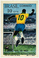 Ref. 26473 * NEW *  - BRAZIL . 1969. 1000 GOLES DE PELE - Brazil