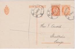 NORVEGE 1912 ENTIER POSTAL CARTE DE BREVIK - Ganzsachen