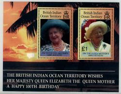 Ref. 60329 * NEW *  - BRITISH INDIAN OCEAN TERRITORY . 2000. CENTENARY OF THE QUEEN MOTHER. CENTENARIO DE LA REINA MADRE - British Indian Ocean Territory (BIOT)